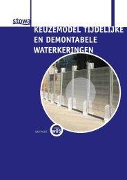 Keuzemodel tijdelijke en demontabele waterkeringen - Stowa
