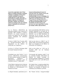1 Accord de coopération entre l'Etat fédéral, la Région flamande, la ...