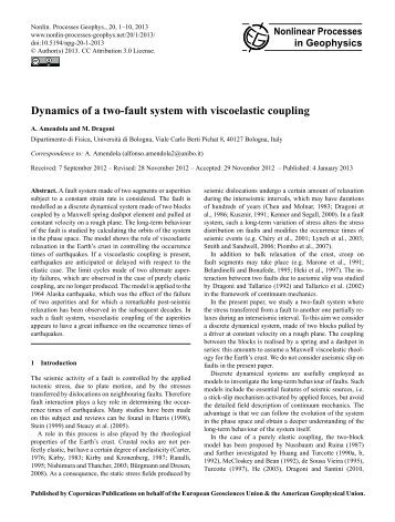 Full Article - Nonlinear Processes in Geophysics