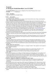 Protokoll 8. Sitzung des StudentInnenRates vom 14.12.2010 - StuRa ...