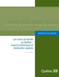 Fichier 1 - Institut de la statistique du Québec - Gouvernement du ...