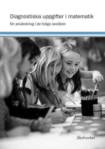 Diagnostiska uppgifter i matematik - Stockholms universitet