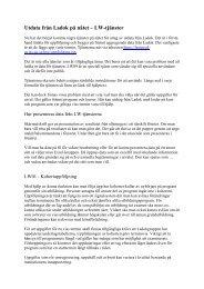 Utdata från Ladok på nätet – LW-tjänster