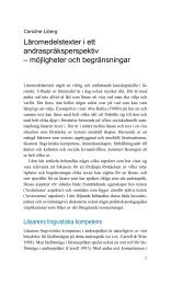 Läromedelstexter i ett andraspråksperspektiv – möjligheter och ...