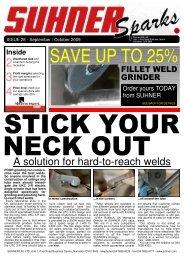 Suhner Sparks Issue No. 28 - September / Ocotober 2009