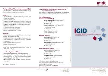 International Center for Immunodeficiency Diseases ... - Sundhed.dk