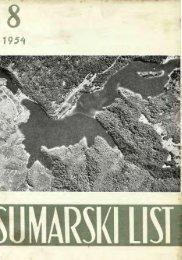 ŠUMARSKI LIST 8/1954