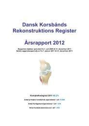 Dansk Korsbånds Rekonstruktions Register ... - Sundhed.dk