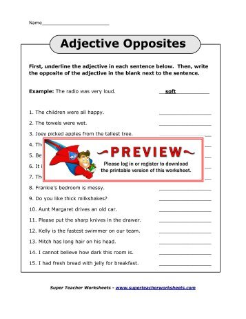 Super Teacher Worksheets Adjectives Adverbs - The Best and Most ...