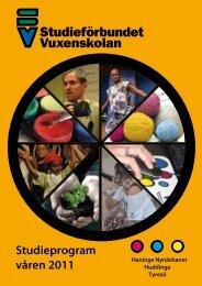 Studieprogram våren 2011 - Studieförbundet vuxenskolan