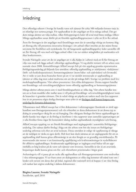 Förenklings- och utvecklingsmöjligheter inom offentlig upphandling ...