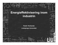 Thollander LiU Energieffektivisering inom industrin ... - Svenskt Vatten
