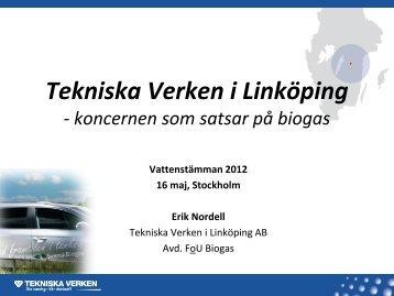 Tekniska Verken i Linköping - koncernen som ... - Svenskt Vatten