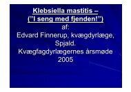 """Klebsiella mastitis – (""""I seng med fjenden!"""") af: Edvard Finnerup ..."""