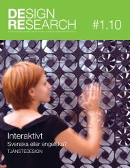 DESIgn RESearch #1.10 - SVID, Stiftelsen Svensk Industridesign
