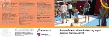 Sommerferieaktiviteter for børn og unge i Syddjurs Kommune 2013