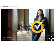 2012 corporate social responsibility report - Symantec