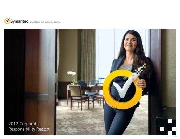 2012 corporate social responsibility report - Symantec