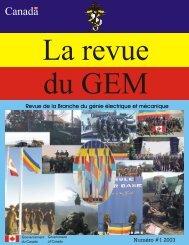 2003 Journal de GEM Numéro #1 - The EME regiment
