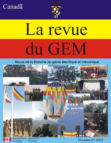 2003 Journal de GEM Numéro #1 - The EME regiment