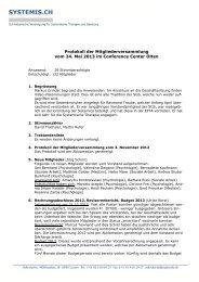 Protokoll der Mitgliederversammlung vom 24. Mai ... - systemis.ch