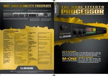 M-One Brochure English - TC Electronic