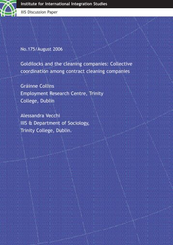 IIIS Discussion Paper No. 175 - Trinity College Dublin