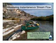 Measuring Instantaneous Stream Flow - TCEQ e-Services - Texas.gov