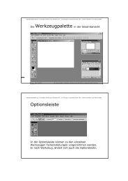 Optionsleiste - Kunstschule digital