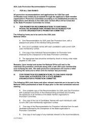 Promotion Recommendation Procedures - United States Olympic ...