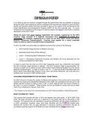 Coach Identification and Development Program