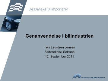 Genanvendelse i bilindustrien - Skibsteknisk Selskab