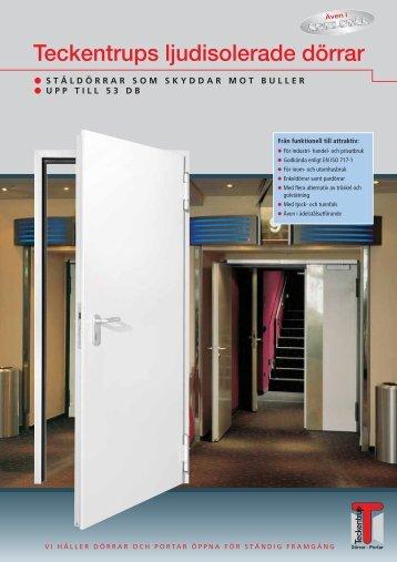 Teckentrups ljudisolerade dörrar