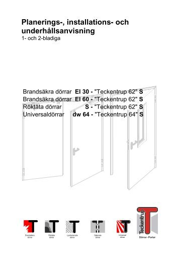 Monteringsanvisning (pdf) - Teckentrup