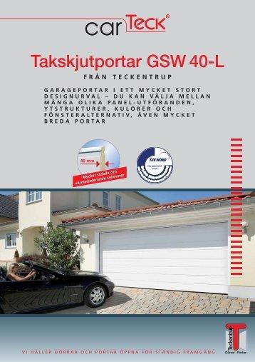 Takskjutportar GSW 40-L - Teckentrup
