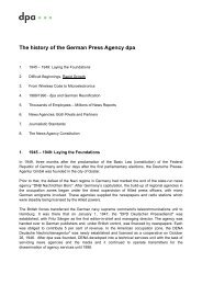 The history of the German Press Agency dpa