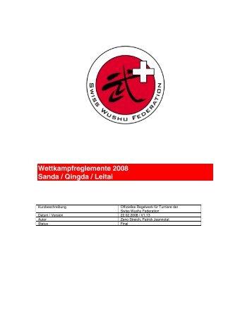 Regelwerk - Swiss Wushu Federation