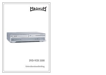 DVD–VCR 3300 - Teknihall.be