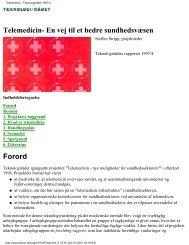 Telemedicin - Teknologirådet 1997/4
