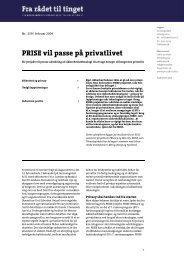 PRISE vil passe på privatlivet - Teknologirådet