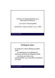 Oplæg - Hvidbog om biobrændstoffer (PDF) - Teknologirådet