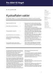 Nr. 145: Kyotoaftalen vakler i PDF format - Teknologirådet