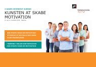 KUNSTEN AT SKABE MOTIVATION - Teknologisk Institut