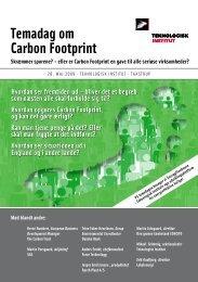 Temadag om Carbon Footprint - Teknologisk Institut