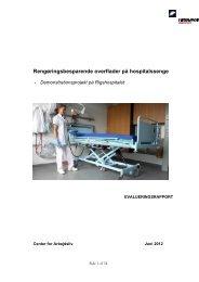Rengøringsbesparende overflader på hospitalssenge - Teknologisk ...