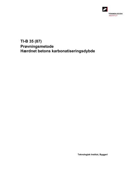 TI-B 35 (87) - Teknologisk Institut
