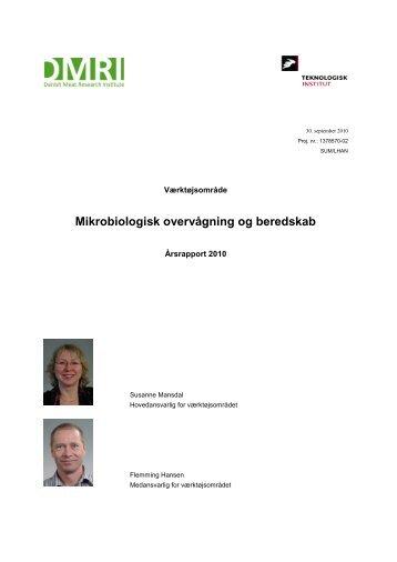 Årsrapport 2010 Mikrobiologisk overvågning og beredskab (123 KB)