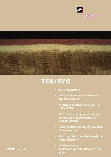 Nyhedsbrev TEK-BYG nr. 4, 2010 - Teknologisk Institut