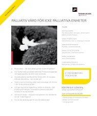palliaTiv vård fÖr ickE palliaTiva EnhETEr - Teknologisk Institut