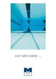 Just add water ... - Teknologisk Institut